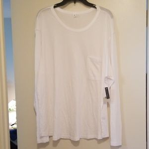 bp Tops - White long sleeve BP pocket tee NEW WT
